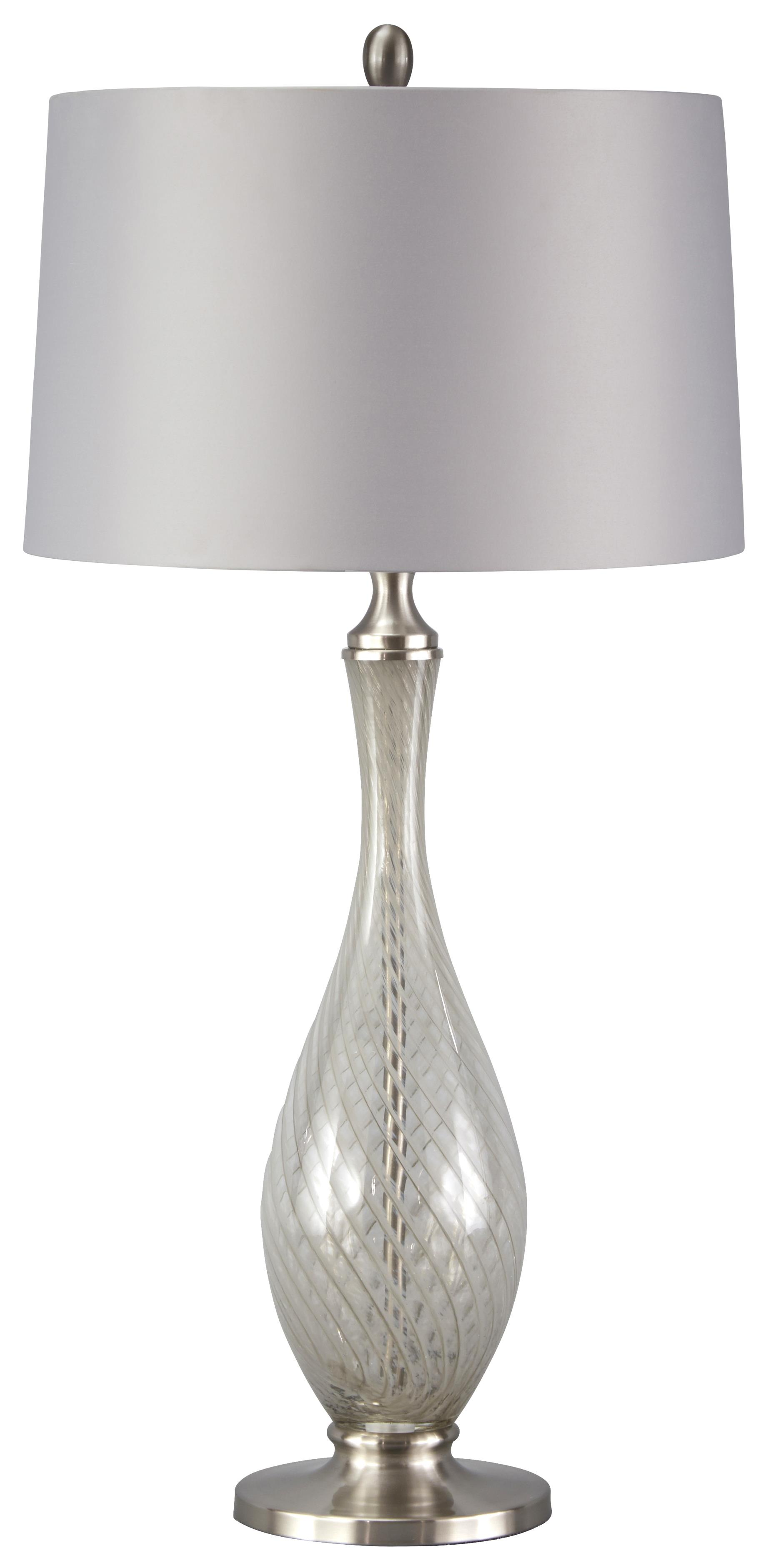 Signature Design by Ashley Lamps - Traditional Classics Samanthee Glass Table Lamp - Item Number: L430094