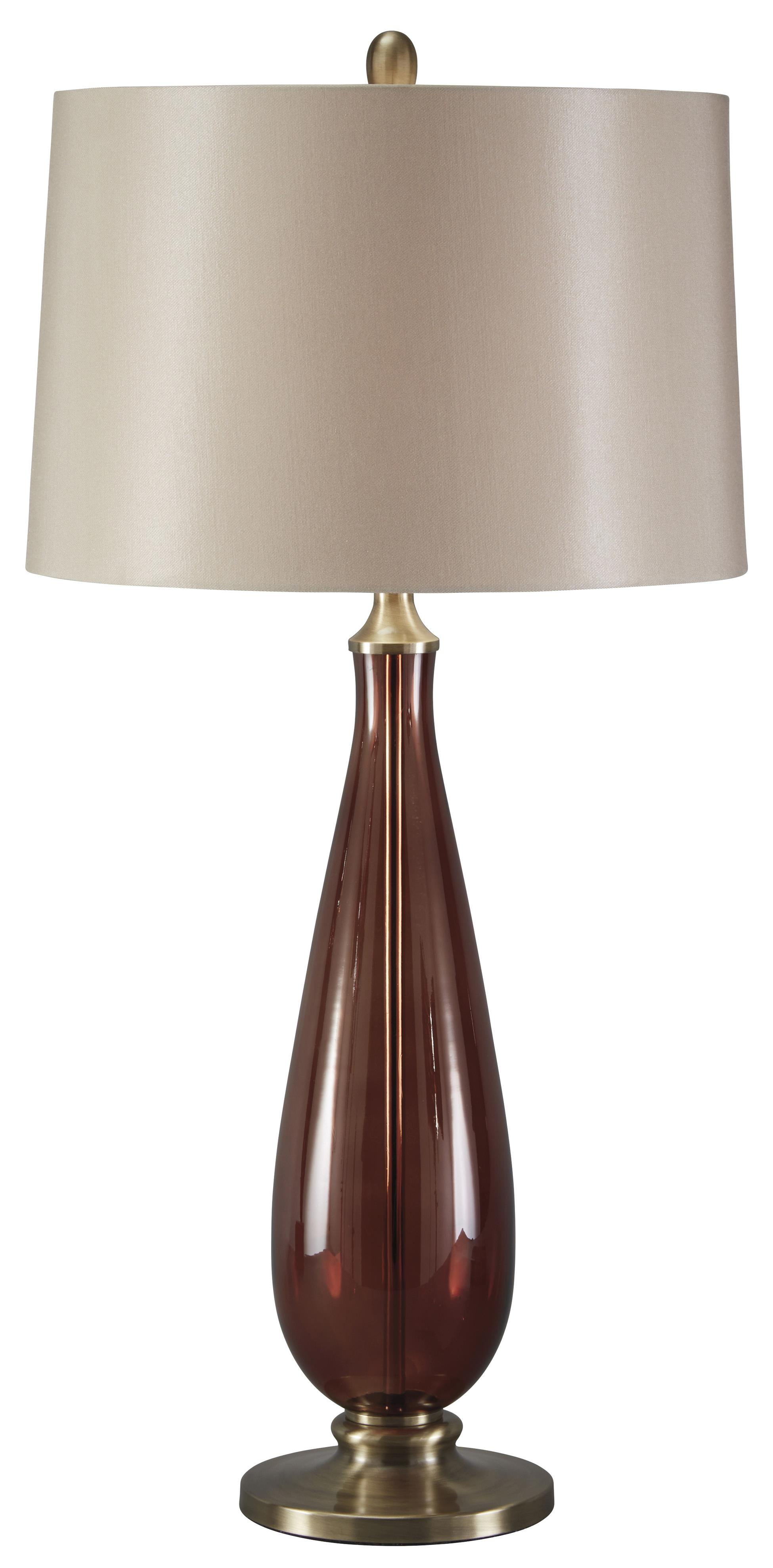 Signature Design by Ashley Lamps - Traditional Classics Sandera Glass Table Lamp - Item Number: L430134