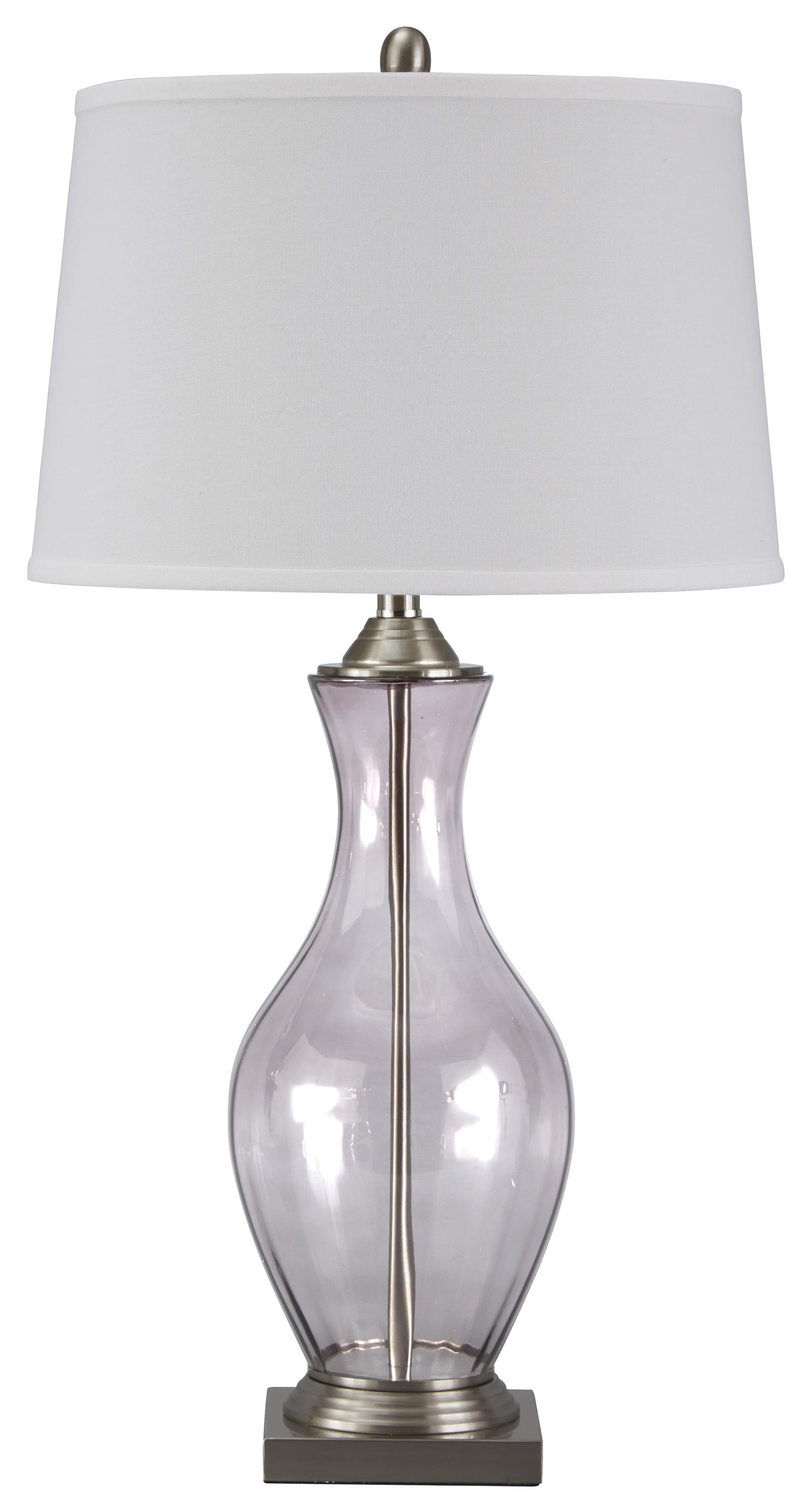 Signature Design by Ashley Lamps - Traditional Classics Shanita Glass Table Lamp - Item Number: L430154