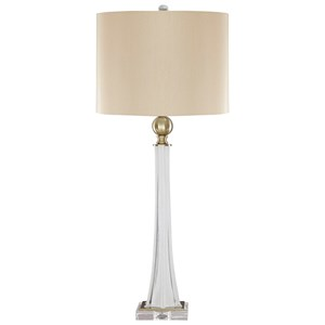 Trendz Lamps - Traditional Classics Set of 2 Laureen Glass Table Lamps