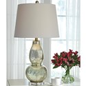 Signature Design by Ashley Lamps - Traditional Classics Set of 2 Laraine Glass Table Lamps - Item Number: L430554