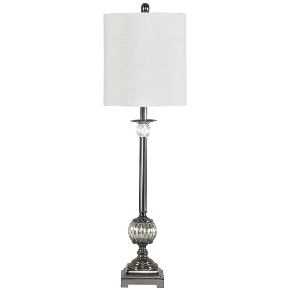 Mabli Gunmetal Finish Metal Table Lamp