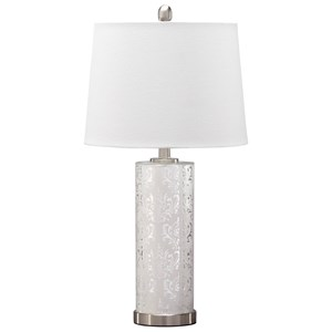 Signature Design by Ashley Lamps - Traditional Classics Set of 2 Nichole Glass Table Lamps