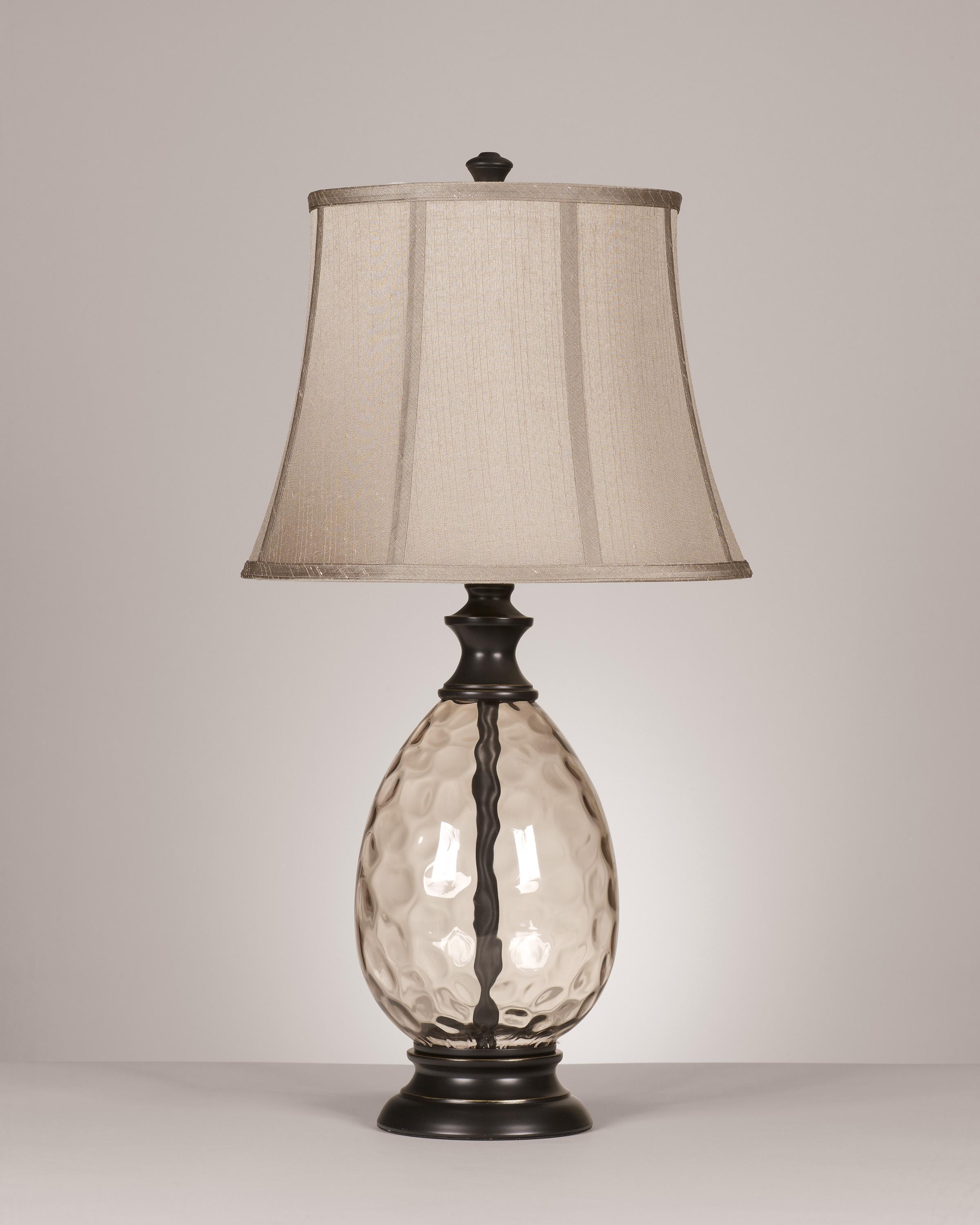 Signature Design by Ashley Lamps - Traditional Classics Set of 2 Olivia Glass Table Lamps - Item Number: L440234
