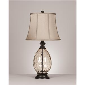 Signature Design by Ashley Lamps - Traditional Classics Set of 2 Olivia Glass Table Lamps