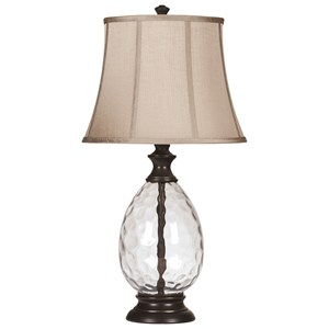 Set of 2 Olivia Glass Table Lamps