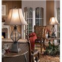 Signature Design by Ashley Lamps - Traditional Classics Set of 2 Ondreya Metal Table Lamps