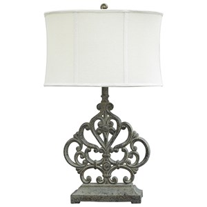 Signature Design by Ashley Lamps - Traditional Classics Broderick Antique Brown Poly Table Lamp