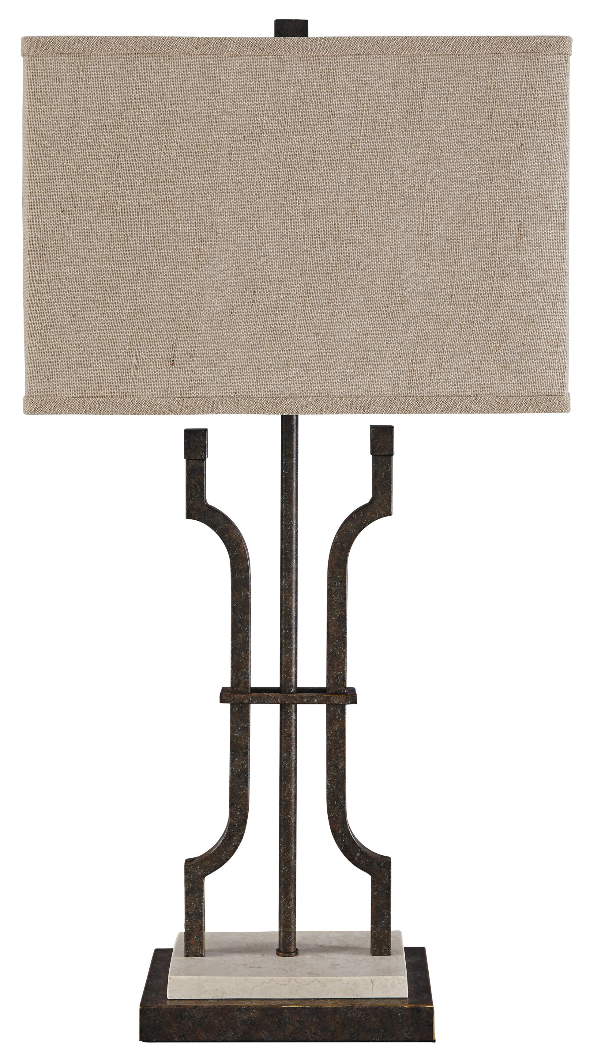 Signature Design by Ashley Lamps - Traditional Classics Malik Metal Table Lamp - Item Number: L531044