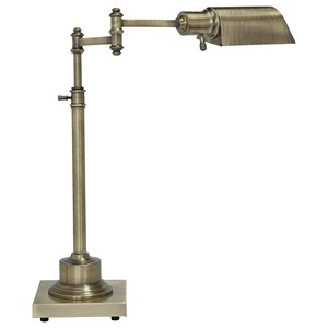 Signature Design by Ashley Lamps - Traditional Classics Arawn Antique Brass Finish Metal Desk Lamp