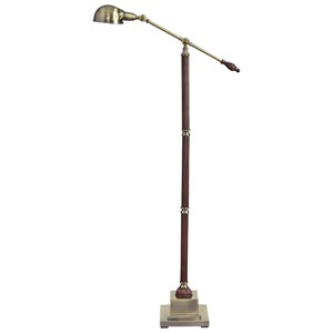 Signature Design by Ashley Lamps - Traditional Classics Jabrar Brown/Brass Finish Poly Floor Lamp