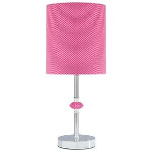 Sommerville Pink/Metal Table Lamp