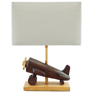 Signature Design by Ashley Lamps - Youth Nicolas Brown Plane Table Lamp