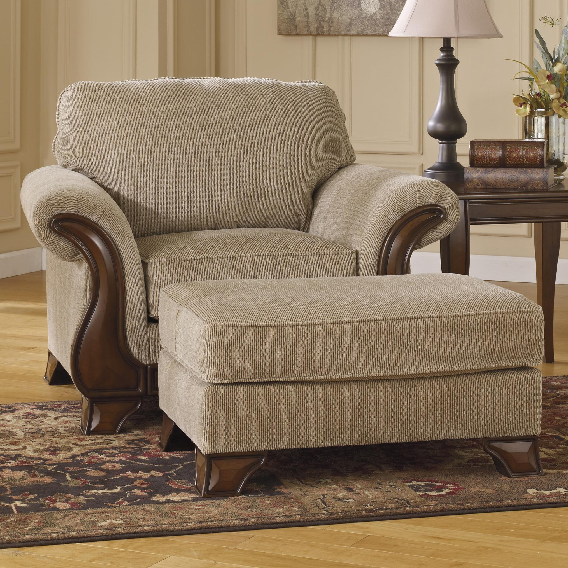 Ashley (Signature Design) Lanett Chair & Ottoman - Item Number: 4490020+14