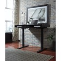 Signature Design by Ashley Laney Standing Desk/Adjustable Height Desk with Electric Powered Lift