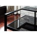 Signature Design by Ashley Laney Contemporary Metal/Glass L-Shape Home Office Corner Desk
