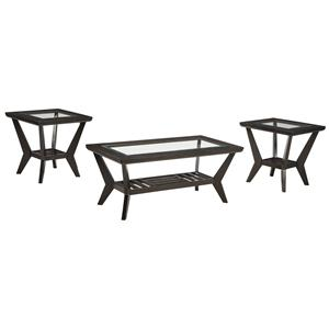 Ashley Signature Design Lanquist 3-Piece Occasional Table Set