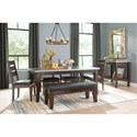 Signature Design by Ashley Larchmont Casual Dining Room Group - Item Number: D442 Dining Room Group 7