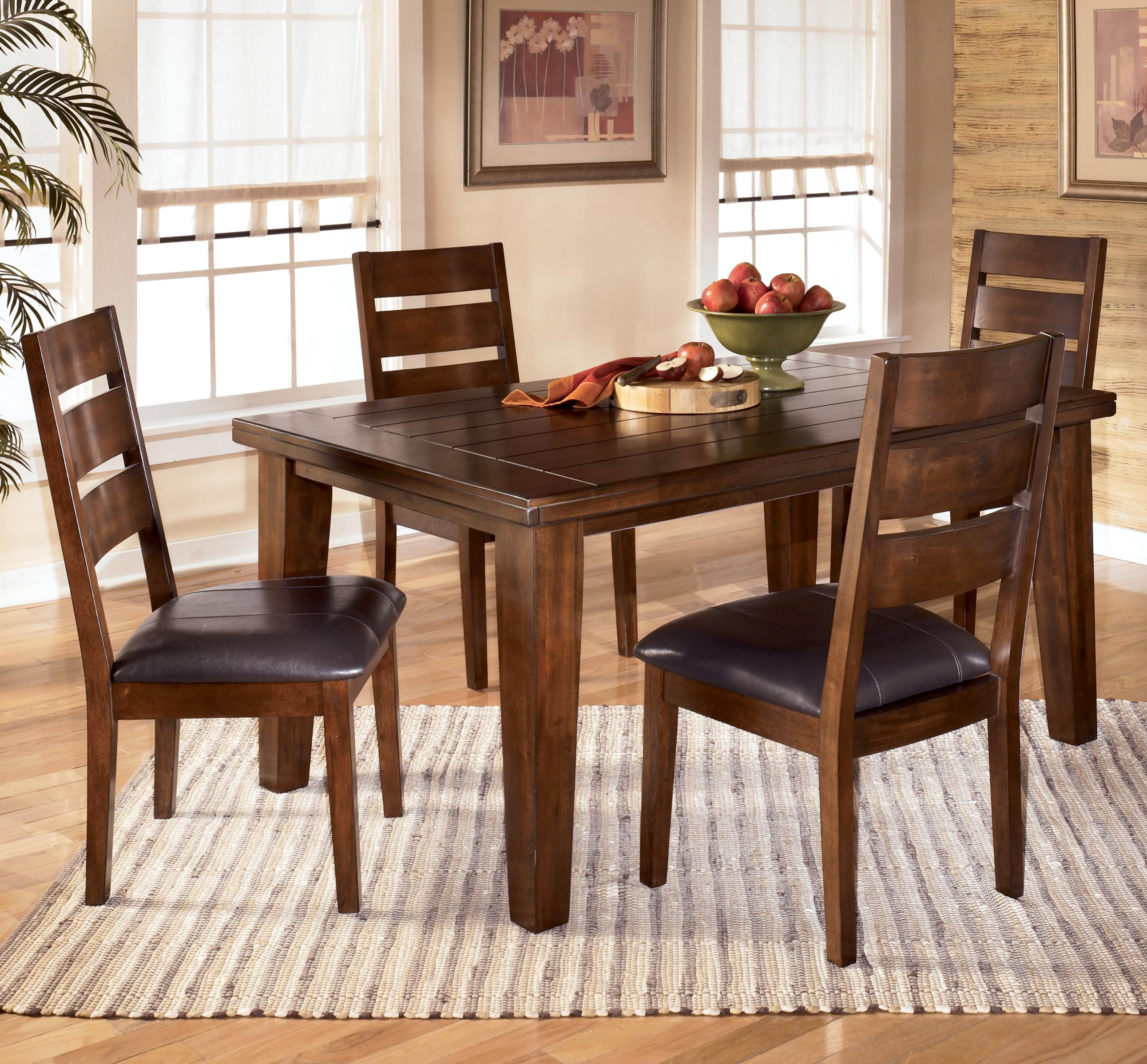 Signature design by ashley larchmont 5 piece rectangular dining table set item number d442