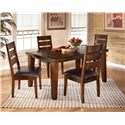Signature Design by Ashley Larchmont Rectangular Dining Table - Shown with 4 Chairs