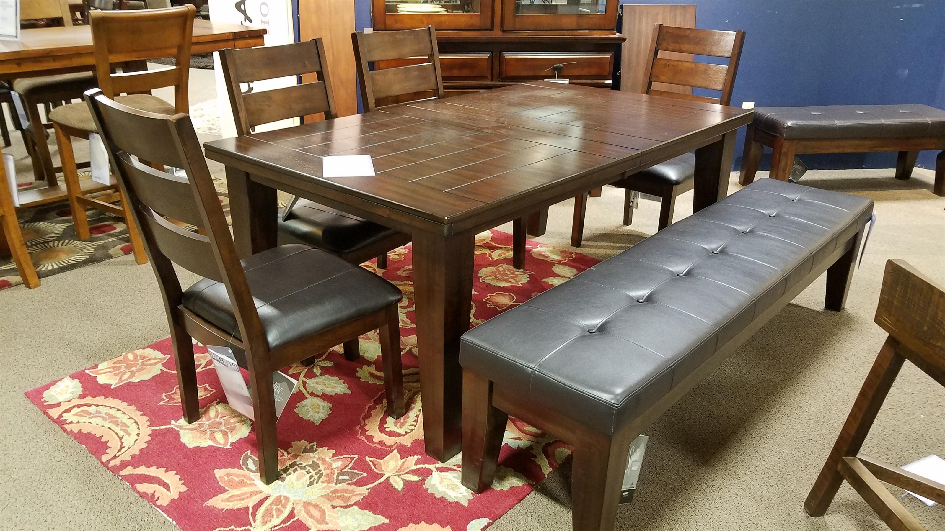 Six Piece Dining Set with Bench