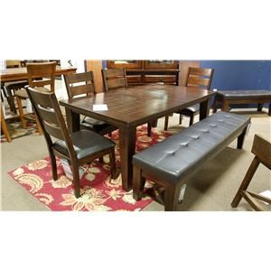 Ashley Signature Design Larchmont Six Piece Dining Set With Bench
