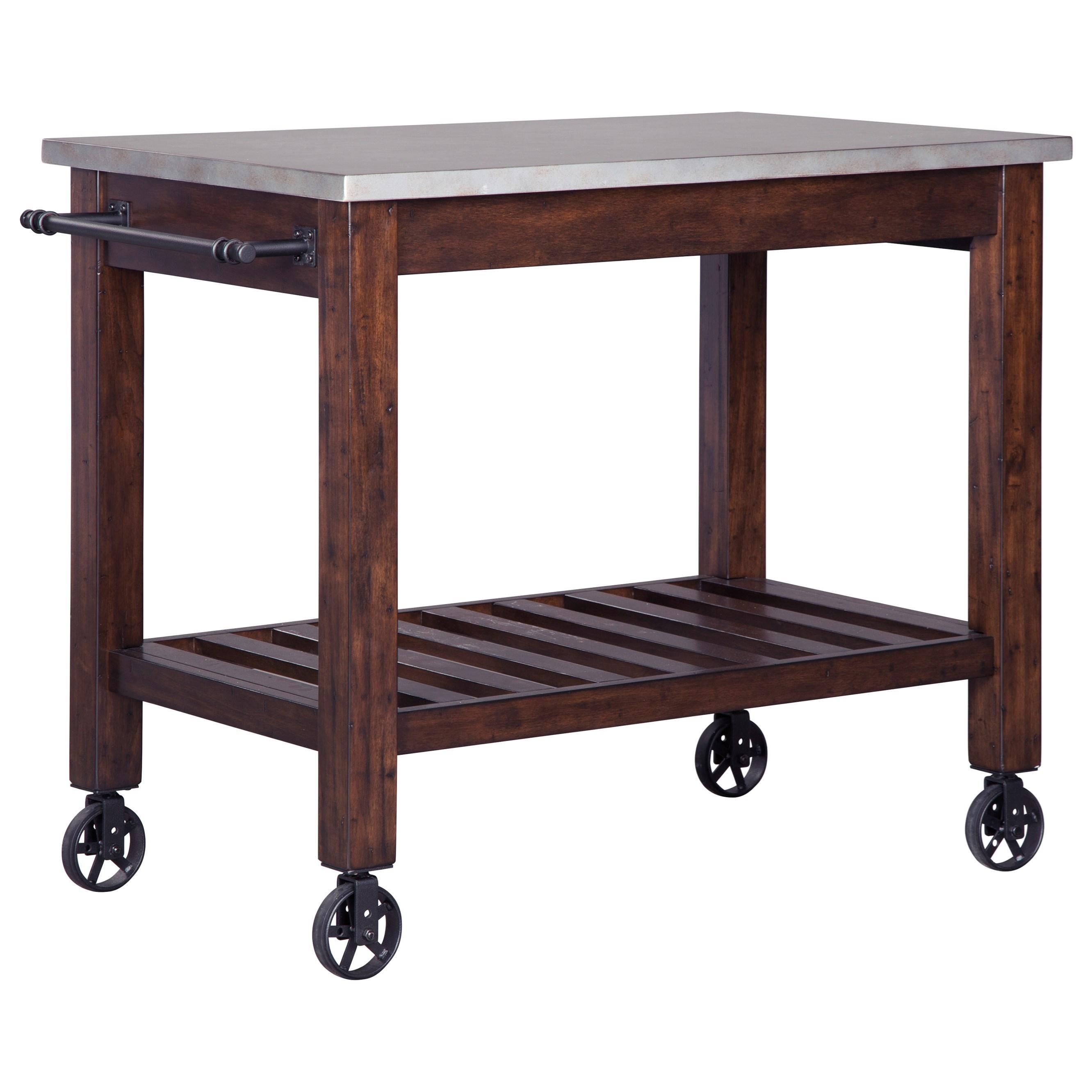 Signature Design by Ashley Larchmont Kitchen Cart - Item Number: D442-66