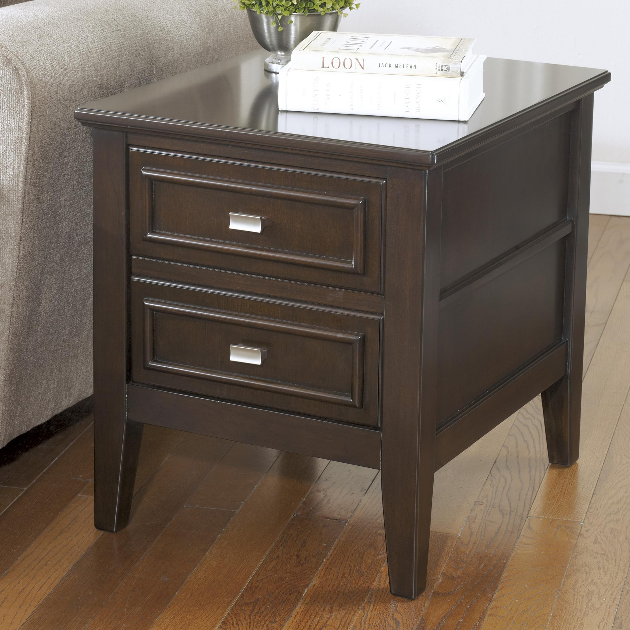 Signature Design by Ashley Larimer Rectangular End Table - Item Number: T654-2