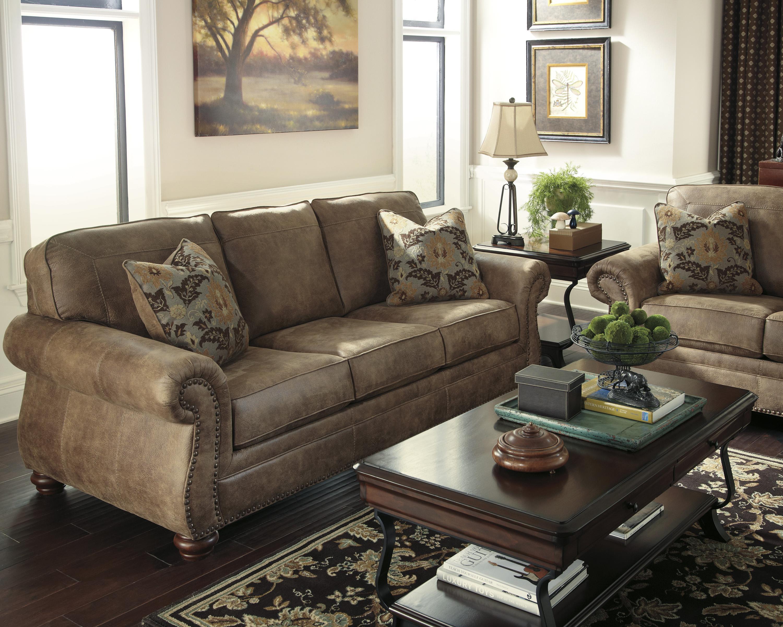 Signature Design By Ashley Larkinhurst Earth Traditional Roll Arm Sofa Miskelly Furniture Sofa