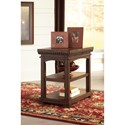 Signature Design by Ashley Larrenton Chair Side End Table with USB Charging and Built-in Outlet