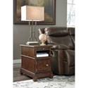 Signature Design by Ashley Lavidor Chair Side End Table with Pull Out Shelf