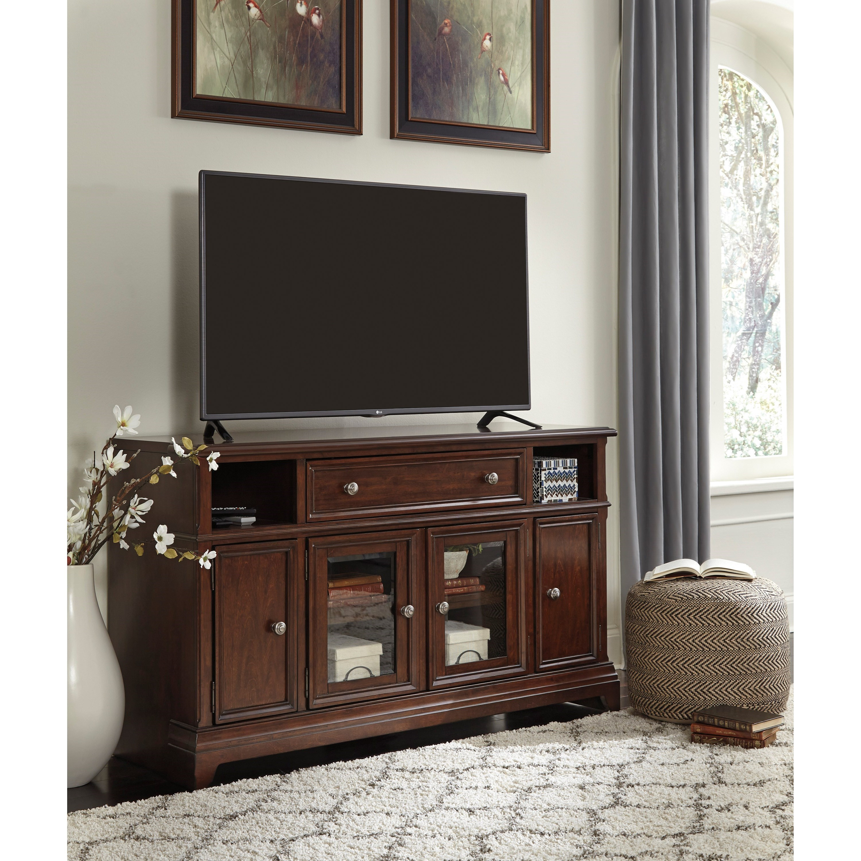 Signature Design by Ashley Lavidor Large TV Stand with Drop Down Door - Royal Furniture - TV Stands