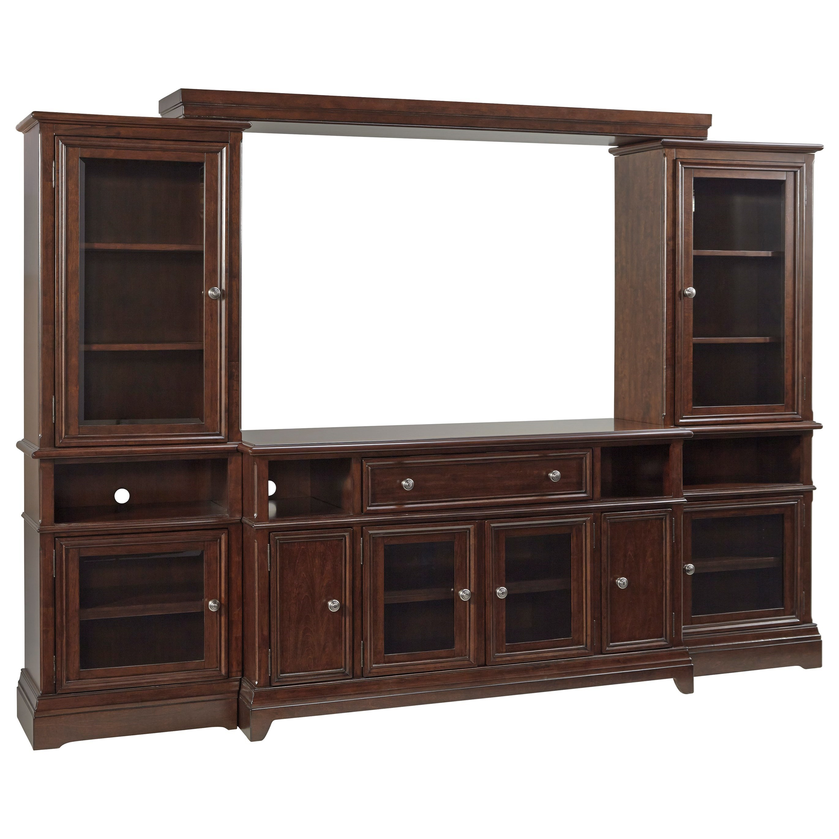 Signature Design by Ashley Lavidor Entertainment Wall Unit - Item Number: W809-23+22+25+24