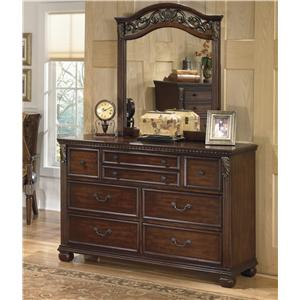 Signature Design by Ashley Furniture Leahlyn Dresser and Mirror Set