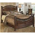 Signature Design by Ashley Leahlyn King Panel Bed - Item Number: B526-58+56+97
