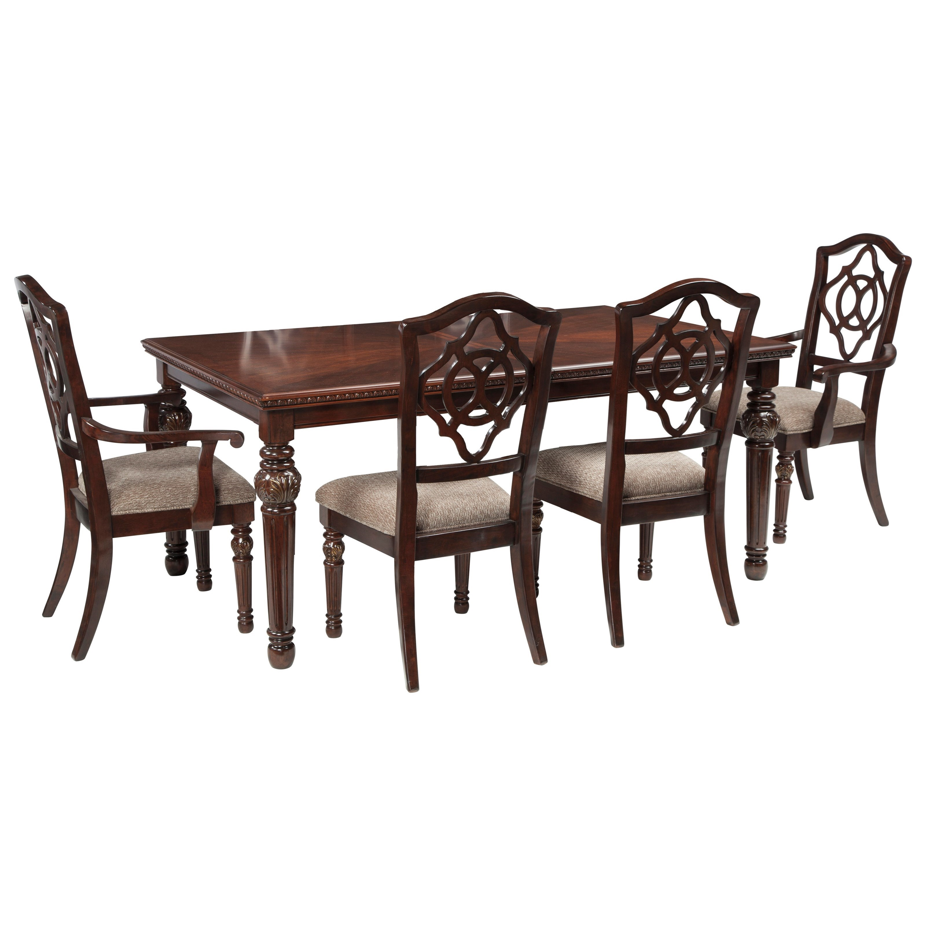 Signature Design by Ashley Leahlyn 5-Piece Rectangular Dining Table ...