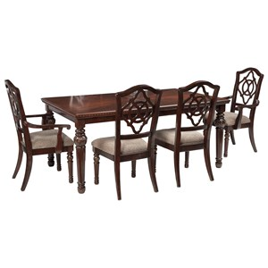 Signature Design by Ashley Leahlyn 5-Piece Rectangular Dining Table Set