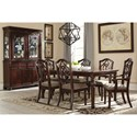Signature Design by Ashley Leahlyn 7-Piece Rectangular Dining Table Set