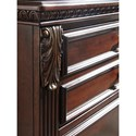 Signature Design by Ashley Leahlyn Traditional Dining Room Buffet with Book-matched Inlay Veneer