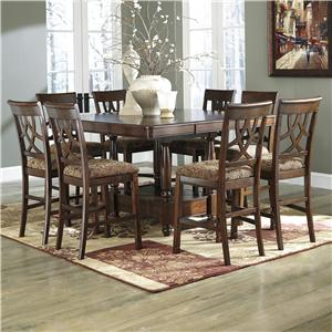 Signature Design by Ashley Leahlyn 9-Piece Counter Table Extension Set