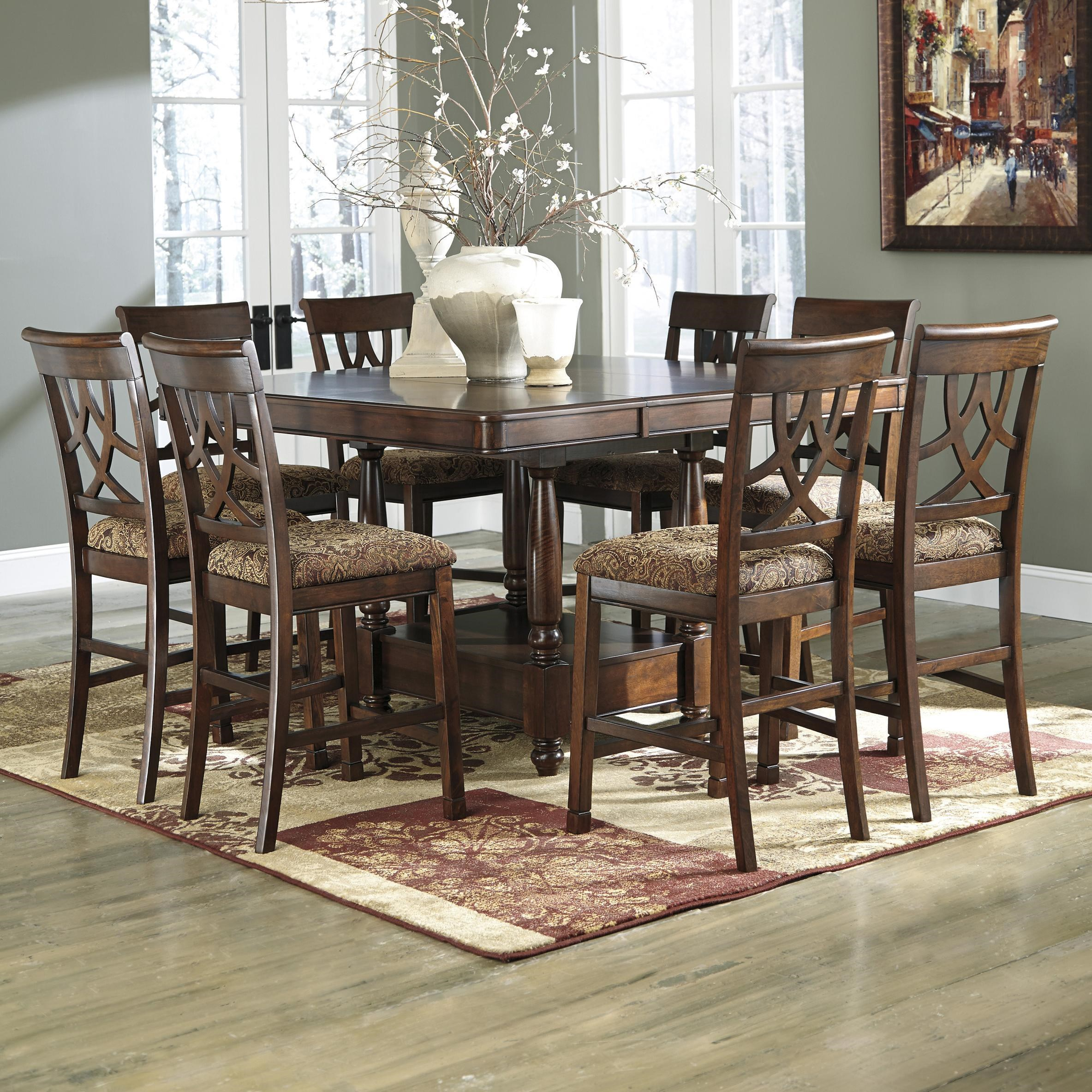 Ashley Furniture Dinette Set: Signature Design By Ashley Leahlyn D436-32+6x124 7 Piece