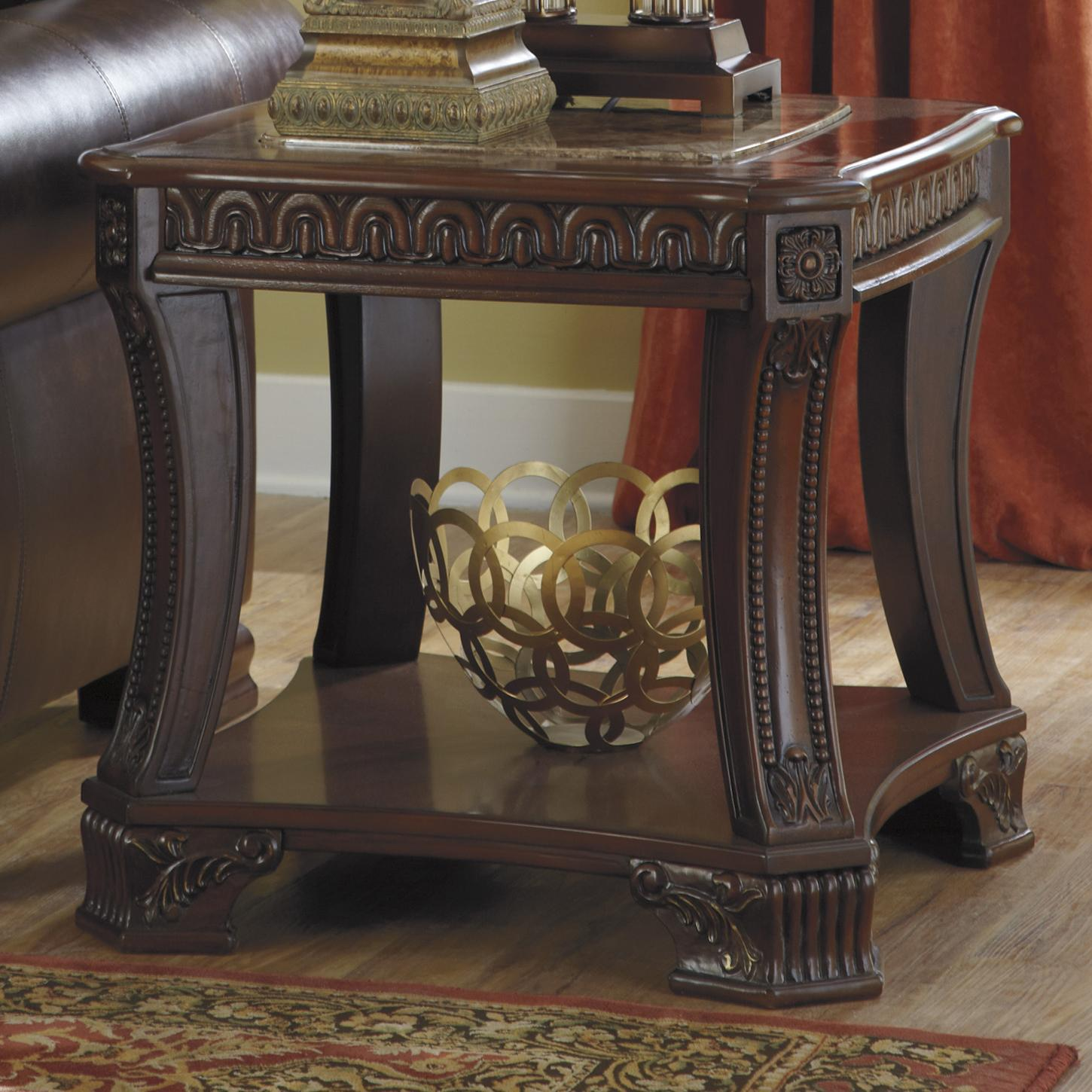 Signature Design by Ashley Ledelle Square End Table - Item Number: T705-2