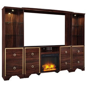 Signature Design by Ashley Lenmara Entertainment Center with Fireplace Insert