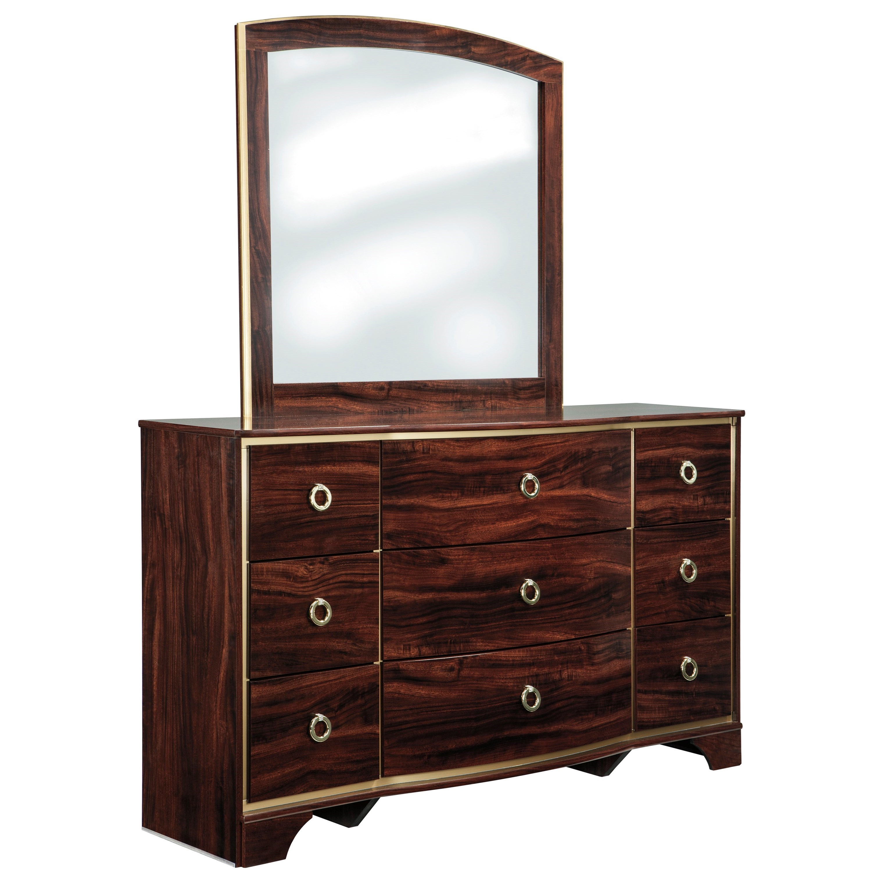 Signature Design by Ashley Lenmara Dresser & Bedroom Mirror - Item Number: B247-31+36