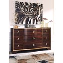 Signature Design by Ashley Lenmara Dresser with Gold Finish Trim