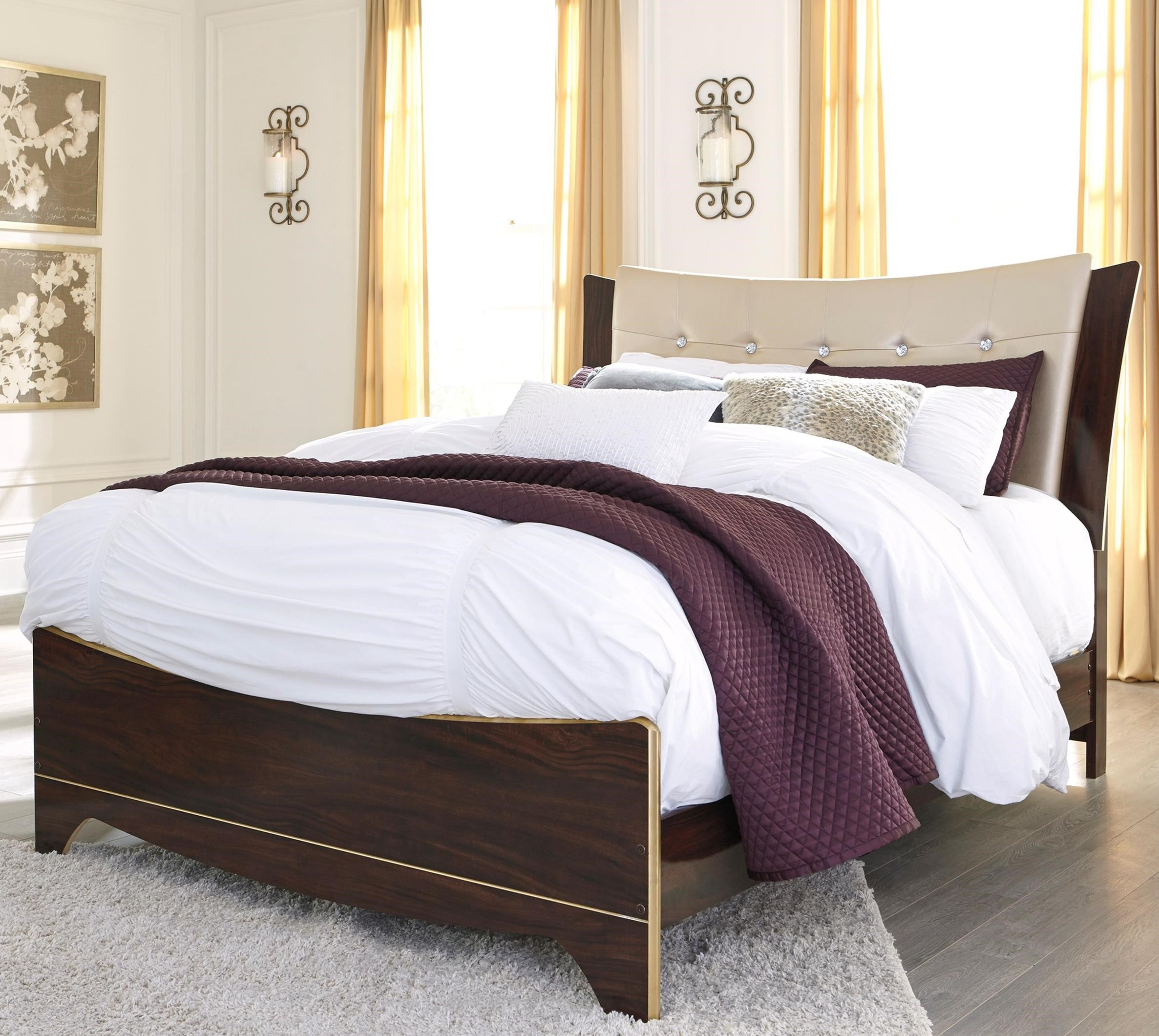 Signature Design by Ashley Lenmara Queen Upholstered Bed - Item Number: B247-57+54+96