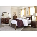 Signature Design by Ashley Lenmara Queen Upholstered Bed with Gold Faux Leather