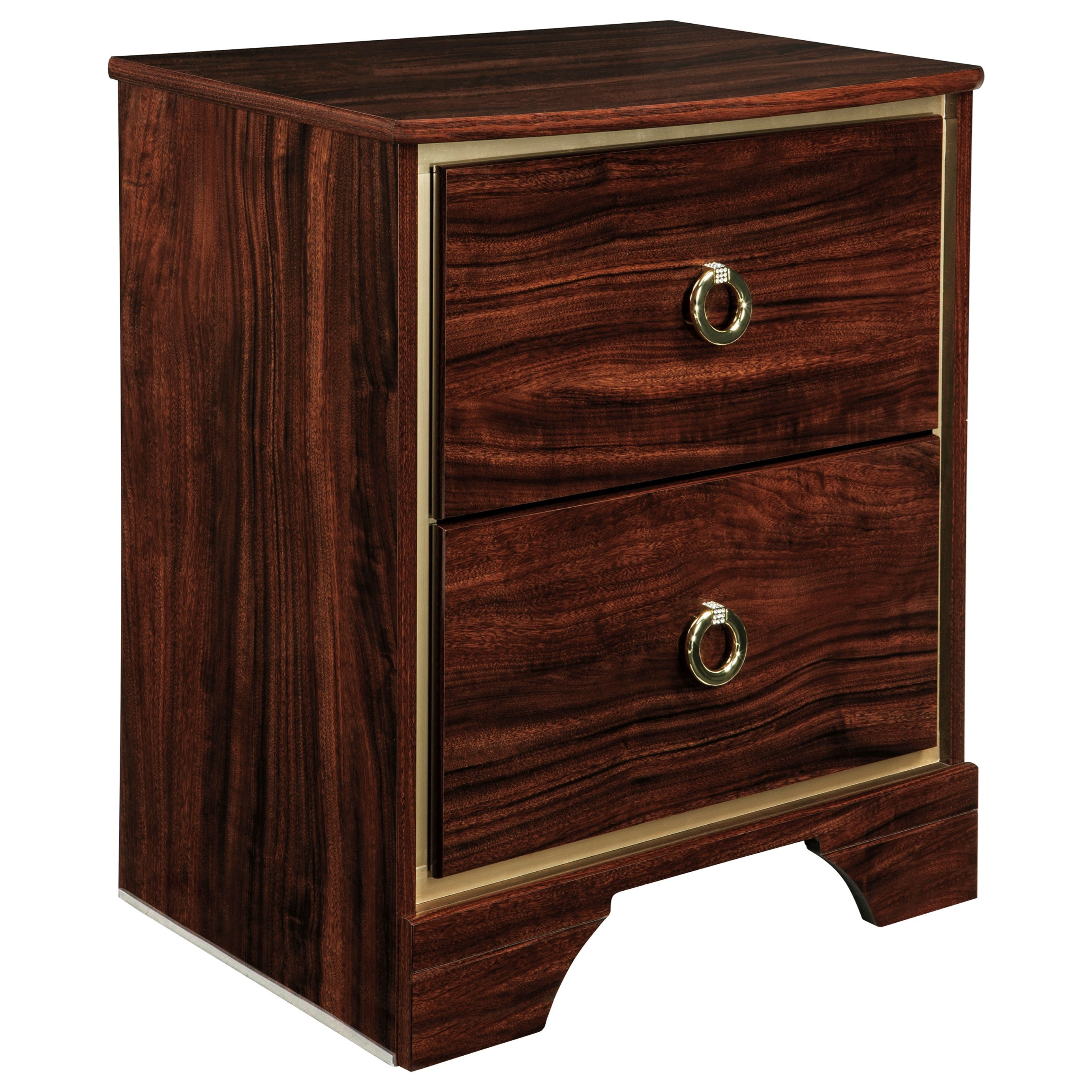 Signature Design by Ashley Lenmara Two Drawer Night Stand - Item Number: B247-92
