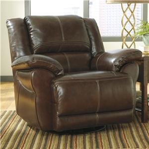 Signature Design by Ashley Lenoris - Coffee Swivel Rocker Recliner