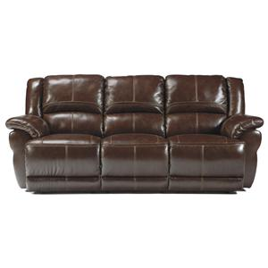 Signature Design by Ashley Furniture Lenoris - Coffee Reclining Power Sofa